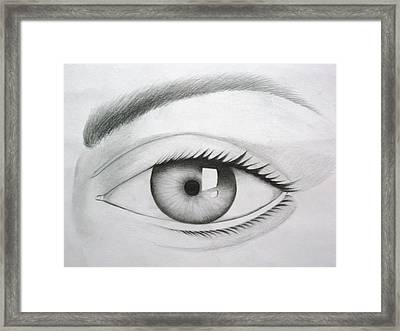 Donate Your Eyes Framed Print by Tanmay Singh
