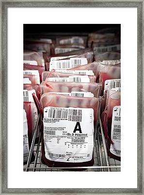 Donated Blood Framed Print