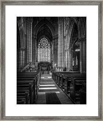 Doncaster Minster East Nave Framed Print by Ian Barber