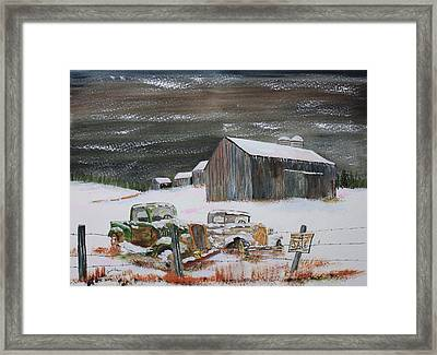Done Farming Framed Print by Jack G  Brauer