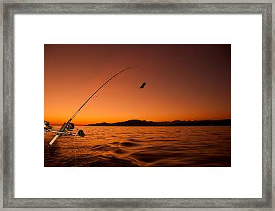 Done Fishing At Sunset Framed Print by James Wheeler