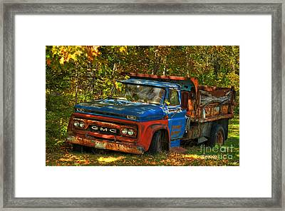Done Hauling  Framed Print by Alana Ranney