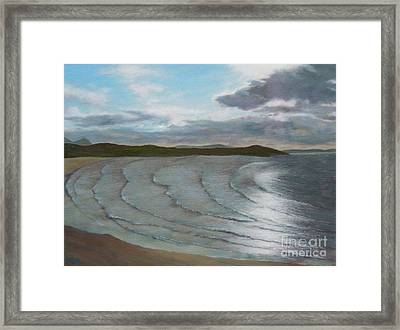 Donegal's Shimmering Sea Framed Print
