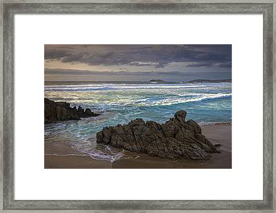Framed Print featuring the photograph Doninos Beach Ferrol Galicia Spain by Pablo Avanzini