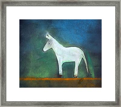 Donkey, 2011 Oil On Canvas Framed Print