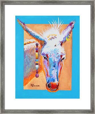 Jack's Other Girl - Burro - Donkey Framed Print