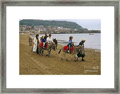 Donkey Ride Gb 1980s Framed Print by David Davies
