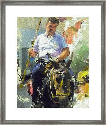 Donkey Ride Framed Print by Yury Malkov