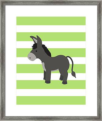Donkey Stripe Framed Print by Tamara Robinson