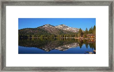 Donner Lake Reflection Framed Print