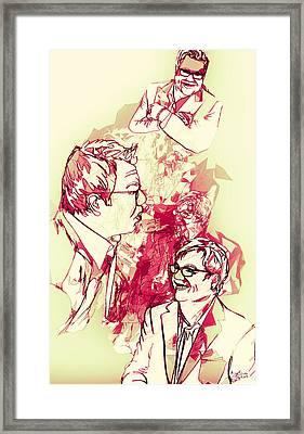 Framed Print featuring the digital art Donnie by Matt Lindley