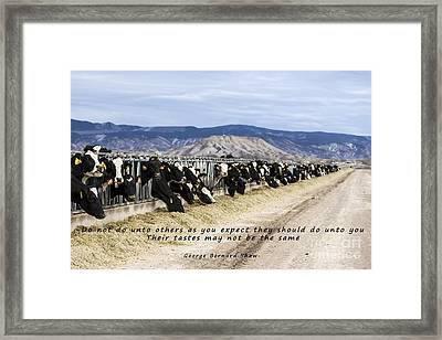 Do Not Do Unto Others  Framed Print by Janice Rae Pariza