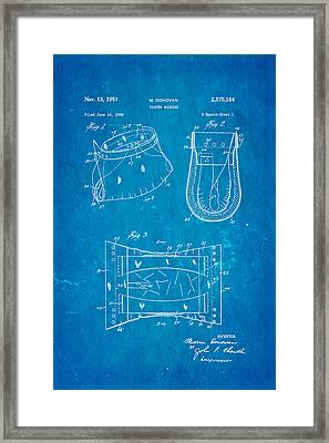 Donovan Disposable Diaper Patent Art 1951 Blueprint Framed Print