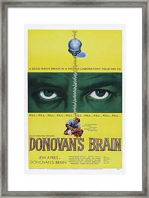 Donovans Brain, 1953 Framed Print by Everett