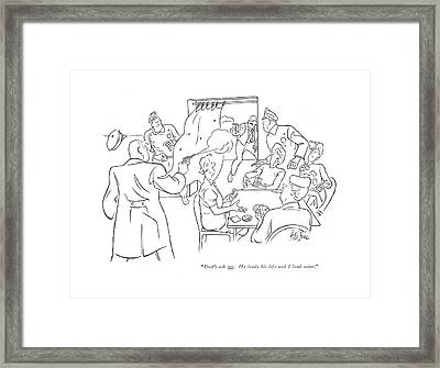 Don't Ask Me. He Leads His Life And I Lead Mine Framed Print by George Price