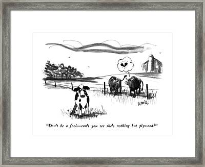 Don't Be A Fool - Can't You See She's Nothing But Framed Print by Donald Reilly