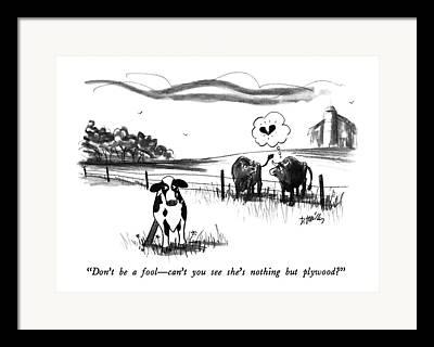 Love The Animal Drawings Framed Prints