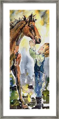 Don't Be Afraid I Won't Let Them Hurt You Framed Print by Ginette Callaway