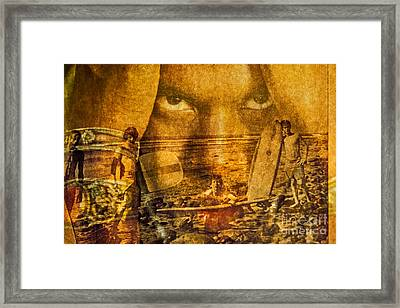 Don't Be Afraid Of The Surf Framed Print by Michael Cinnamond