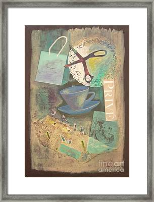 Framed Print featuring the painting Don't Be Blue by Mini Arora