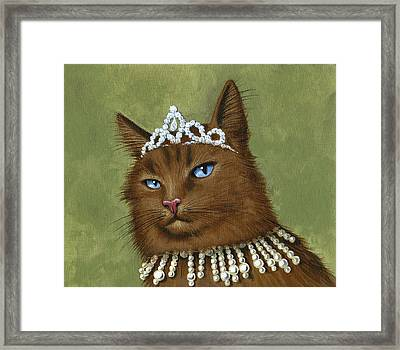 Don't Come Too Close...cat Art Painting Framed Print by Amy Giacomelli