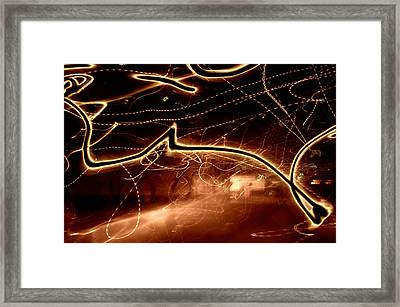 Don't Cross The Streams Framed Print