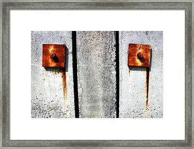 Don't Cry For Me Industrial Decay Series No 006 Framed Print by Design Turnpike