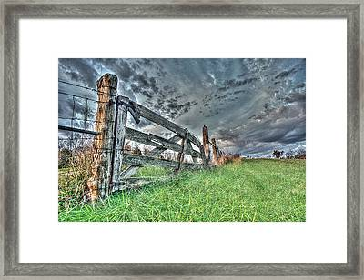 Don't Fence Me In Framed Print by William Fields