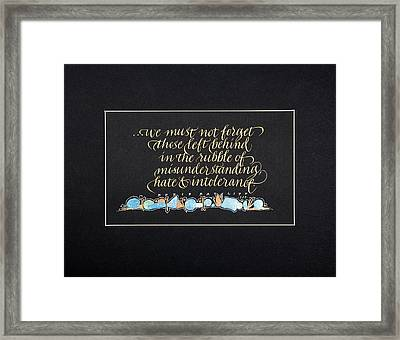 Don't Forget... Framed Print