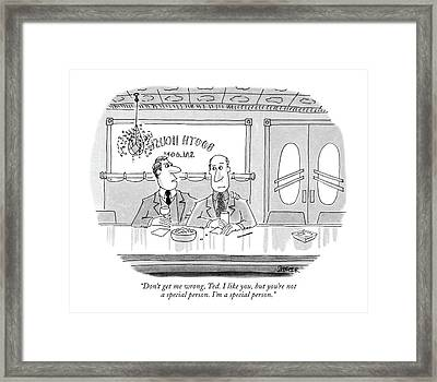 Don't Get Me Wrong Framed Print by Jack Ziegler