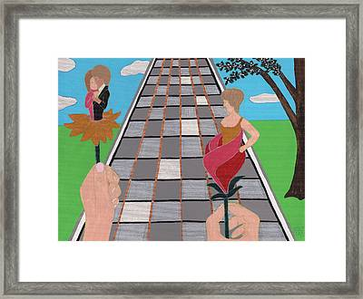 Don't Get Strung Out Framed Print by Barbara St Jean