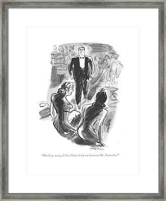 Don't Go Away Framed Print by Garrett Price