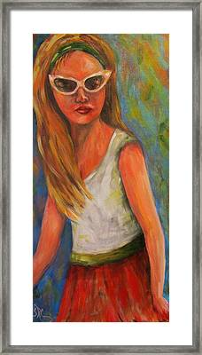 Don't I Know You? Girl Framed Print