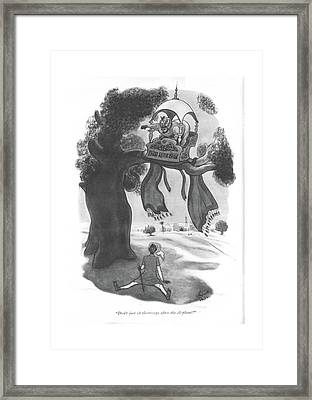 Don't Just Sit There - Go After The Elephant! Framed Print