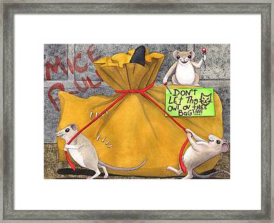 Dont Let The Cat Out Of The Bag Framed Print by Catherine G McElroy