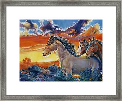 Don't Let The Sun Go Down On Me Framed Print by Rick Unger