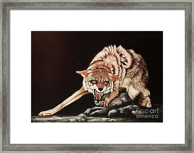 Framed Print featuring the painting Dont Mess With Me by DiDi Higginbotham