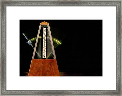 Don't Miss The Beat Framed Print
