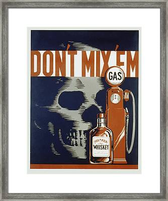 Framed Print featuring the mixed media Don't Mix'em by American Classic Art