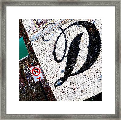 Don't Park Framed Print by Leon Hollins III