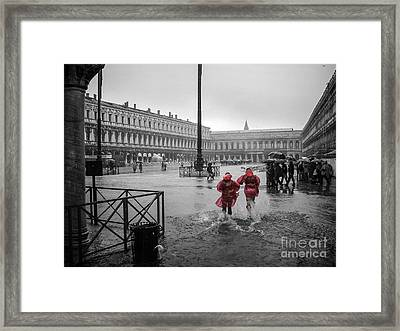 Don't Postpone Joy Framed Print
