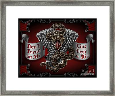 Don't Tread On Me Framed Print by JQ Licensing