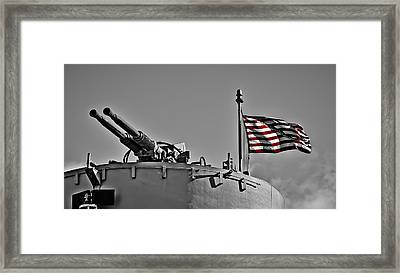 Don't Tread On Me - Selective Color Framed Print