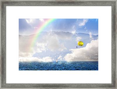 Dont Worry Be Happy Framed Print by Lynn Bauer