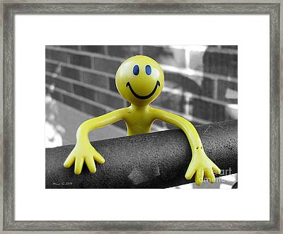Framed Print featuring the photograph Don't Worry Be Happy by Nina Silver