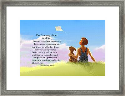 Don't Worry Framed Print by Nate Owens