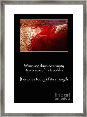 Don't Worry Framed Print by Randi Grace Nilsberg