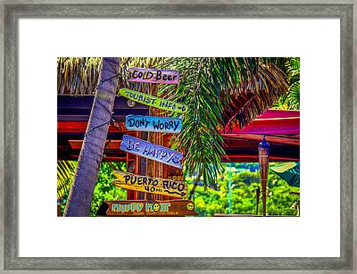 Don't Worry..be Happy Framed Print by Denise Darby