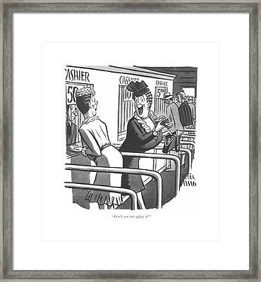 Don't You Just Adore It? Framed Print