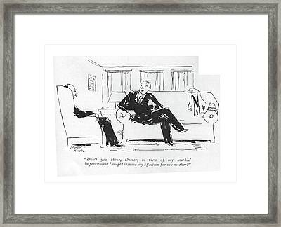 Don't You Think Framed Print by Alan Dunn
